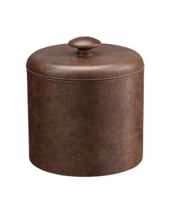 1qt Designer Brown Ice Bucket w/ Dome Material Cover w/ Brown Mushroom Knob