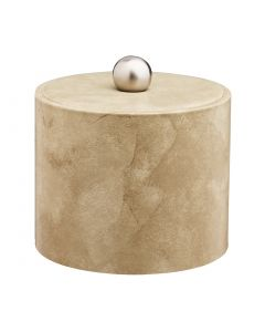 1qt Doeskin Ice Bucket w/ Material Cover w/  Brushed Stainless Astro Knob