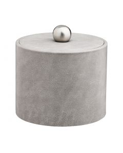 1qt Slate Grey Ice Bucket w/ Material Cover w/  Brushed Stainless Astro Knob