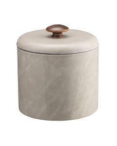 1qt Slate Gray Ice Bucket w/ Dome Material Cover w/ Brown Mushroom Knob