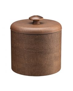 1qt Coffee Italia Ice Bucket w/ Dome Material Cover w/ Brown Mushroom Knob