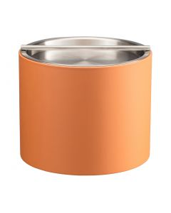 1qt Spice Orange Ice Bucket w/ Stainless Handlebar Cover