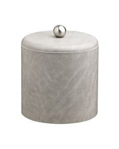 2qt Slate Grey Ice Bucket w/ Dome Material Cover w/  Brushed Stainless Astro Knob