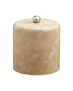 3qt Doeskin Ice Bucket w/ Dome Material Cover w/  Brushed Stainless Astro Knob