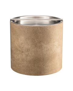 3qt Vanilla Ice Bucket with Stainless Handlebar Cover