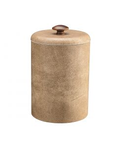 TALL Vanilla Ice Bucket w/ Dome Material Cover w/ Brown Mushroom Knob