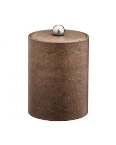 TALL Coffee Italia Ice Bucket w/ Material Cover w/  Brushed Stainless Astro Knob