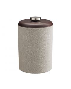 TALL Ice Bucket w/ Dome Material w/ Stainless Disk:  SHAGREEN PARCHMENT