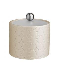 1qt Ice Bucket w/ Acrylic Cover & Brushed Stainless Astro Knob: MAD MEN EGGSHELL