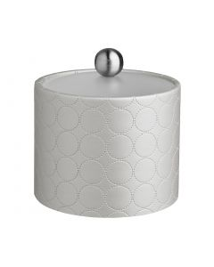 1qt Ice Bucket w/ Acrylic Cover & Brushed Stainless Astro Knob: MAD MEN LINEN