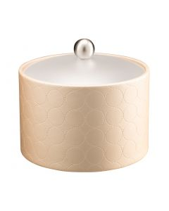 MESA Ice Bucket w/ Acrylic Cover w/ Brushed Ball Knob: MAD MEN LINEN