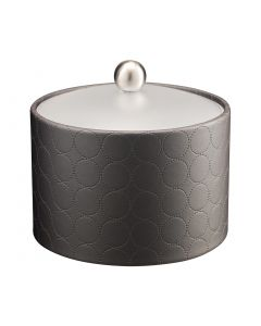 MESA Ice Bucket w/ Acrylic Cover w/ Brushed Ball Knob: MAD MEN CHARCOAL
