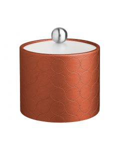 1qt Ice Bucket w/ Acrylic Cover & Brushed Stainless Astro Knob: MAD MEN PERSIMMON