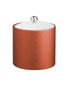 2qt Ice Bucket w/ Acrylic Cover & Brushed Stainless Astro Knob: MAD MEN PERSIMMON