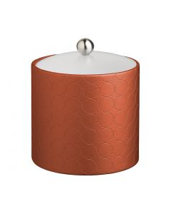 3qt Ice Bucket w/ Acrylic Cover & Brushed Stainless Astro Knob: MAD MEN PERSIMMON