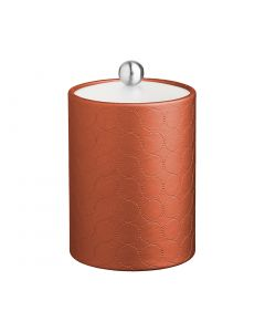 Tall Ice Bucket w/ Acrylic Cover & Brushed Stainless Astro Knob: MAD MEN PERSIMMON