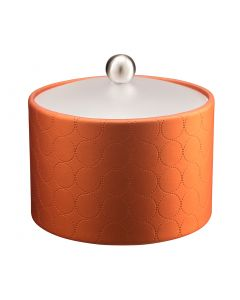MESA Ice Bucket w/ Acrylic Cover w/ Brushed Ball Knob: MAD MEN PERSIMMON