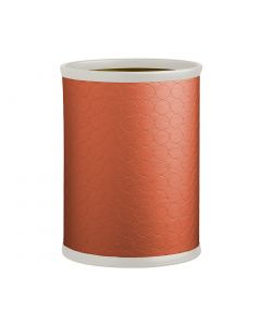 13qt Plus Oval Waste Basket: MAD MEN PERSIMMON