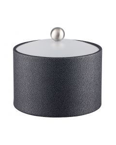 MESA Ice Bucket w/ Acrylic Cover w/ Brushed Stainless Ball Knob: SHAGREEN ABYSS