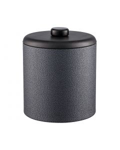 3qt Ice Bucket w/ Dome Material w/ Brown Wood Disk: SHAGREEN ABYSS