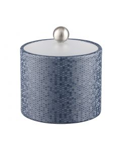 Honeycomb 1qt Ice Bucket w/ Acrylic Cover & Brushed Stainless Ball Knob: GRAPHITE BLUE