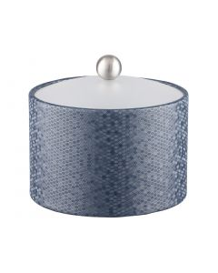 Honeycomb Mesa Ice Bucket w/ Acrylic Cover & Brushed Stainless Ball Knob: GRAPHITE BLUE