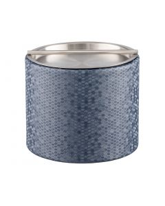 Honeycomb 1qt Ice Bucket w/ Stainless Handlebar Cover: GRAPHITE BLUE