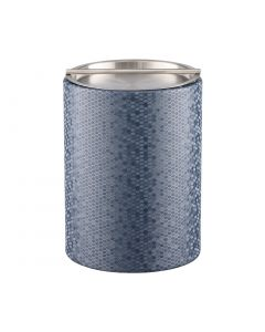 Honeycomb Tall Ice Bucket w/ Stainless Handlebar Cover: GRAPHITE BLUE