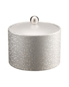 Honeycomb Mesa Ice Bucket w/ Acrylic Cover & Brushed Stainless Ball Knob: SILVER