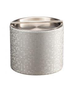 Honeycomb 1qt Ice Bucket w/ Stainless Handlebar Cover  SILVER