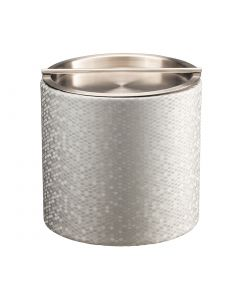Honeycomb 2qt Ice Bucket w/ Stainless Handlebar Cover: SILVER
