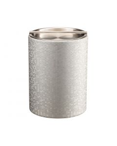 Honeycomb Tall Ice Bucket w/ Stainless Handlebar Cover: SILVER