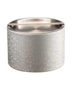 Honeycomb Mesa Ice Bucket w/ Stainless Handlebar Cover: SILVER
