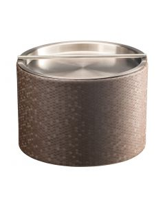 Honeycomb Mesa Ice Bucket w/ Stainless Cover: LATTE