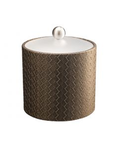 2qt Ice Bucket w/ Acrylic Cover & Brushed Stainless Ball Knob: SAN REMO PYRITE