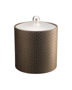 3qt Ice Bucket w/ Acrylic Cover & Brushed Stainless Ball Knob: SAN REMO PYRITE