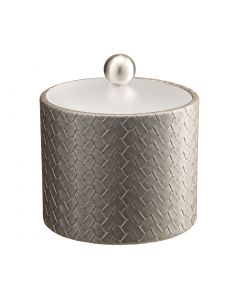 1qt Ice Bucket w/ Acrylic Cover & Brushed Stainless Ball Knob: SAN REMO PATINA