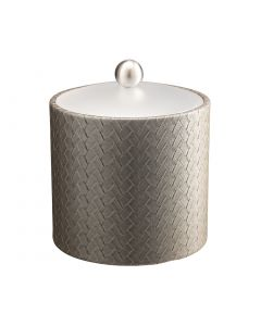 2qt Ice Bucket w/ Acrylic Cover & Brushed Stainless Ball Knob: SAN REMO PATINA