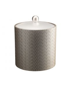 3qt Ice Bucket w/ Acrylic Cover & Brushed Stainless Ball Knob: SAN REMO PATINA