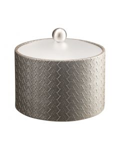 Mesa Ice Bucket w/ Acrylic Cover & Brushed Stainless Ball Knob: SAN REMO PATINA