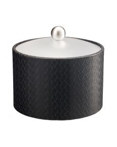 Mesa Ice Bucket w/ Acrylic Cover & Brushed Stainless Ball Knob:  SAN REMO BLACK