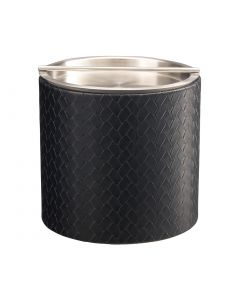2qt Ice Bucket w/ Stainless Handlebar Cover: SAN REMO BLACK