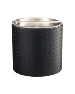 3qt Ice Bucket w/ Stainless Handlebar Cover: SAN REMO BLACK