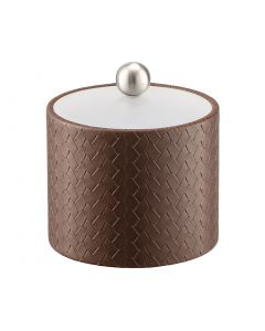 1qt Ice Bucket w/ Acrylic Cover & Brushed Stainless Ball Knob: SAN REMO PINECONE