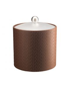 3qt Ice Bucket w/ Acrylic Cover & Brushed Stainless Ball Knob: SAN REMO PINECONE