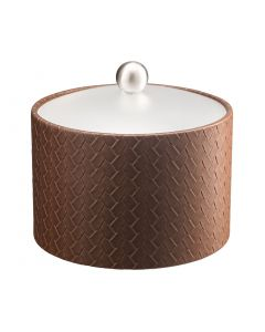 Mesa Ice Bucket w/ Acrylic Cover & Brushed Stainless Ball Knob: SAN REMO PINECONE