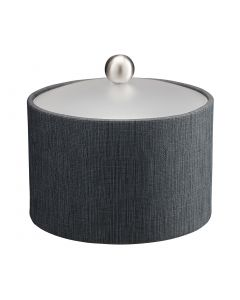 Mesa Ice Bucket w/ Acrylic Cover & Brushed Stainless Ball Knob: LINEN CHARCOAL