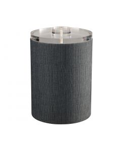 Tall Ice Bucket w/ Quartz Cover: LINEN CHARCOAL