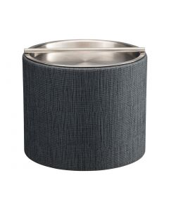 1qt Ice Bucket w/ Stainless Handlebar Cover: LINEN CHARCOAL