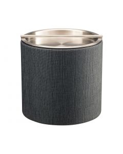 2qt Ice Bucket w/ Stainless Handlebar Cover: LINEN CHARCOAL